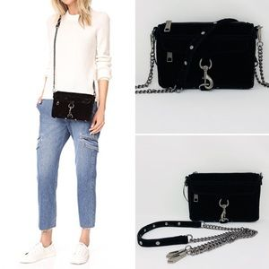REBECCA MINKOFF BLACK VELVET MINI MAC